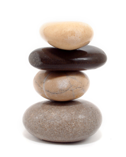 Torre de piedras lizas