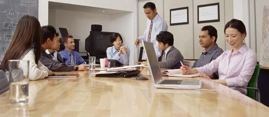Reunión de trabajadores